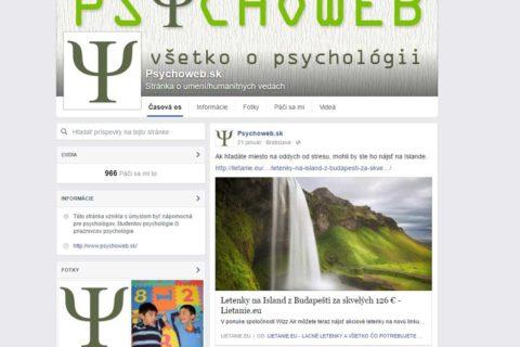 Profil pre Psychoweb.sk